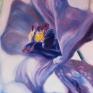 011. Blå orkide, 40 x 40 cm