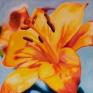 012. Gul orkide, 40 x 40 cm