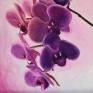 038. Violett orkide, 20 x 20 cm