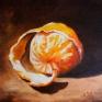 068. Skrellet appelsin, 30 x 30 cm