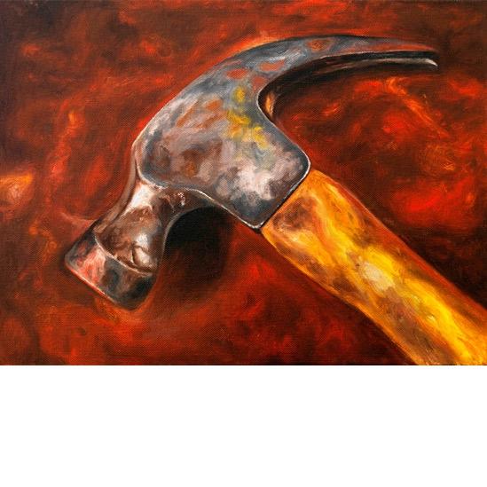 010. Hammer, 30 x 40 cm