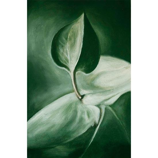020. Grønn plante, 14,5 x 22 cm