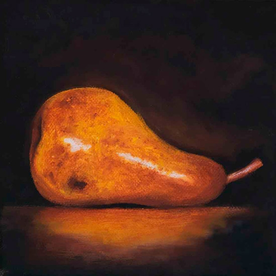 001. Liggende pære, 15 x 15 cm