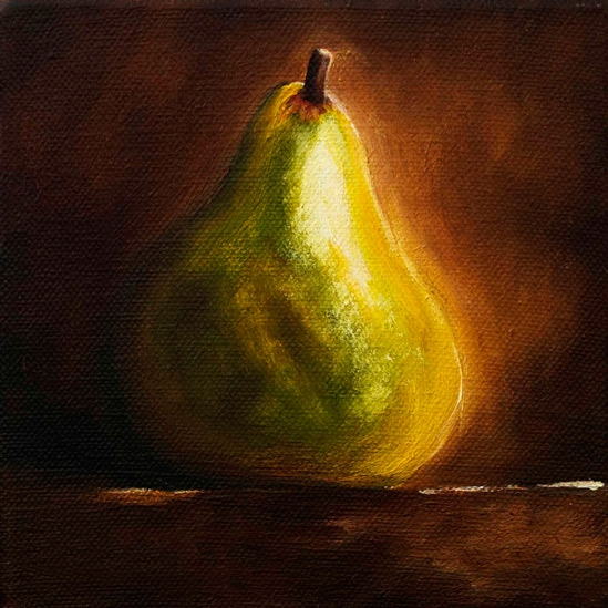 002. Stående pære, 15 x 15 cm