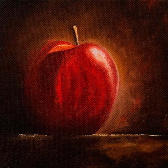 056. Rødt eple, 15 x 15 cm