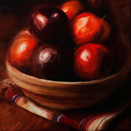006. Epler i bolle, 20 x 20 cm