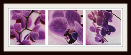 Fiolette blomster